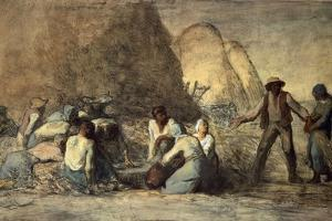 The Meal of the Harvesters by Jean-François Millet