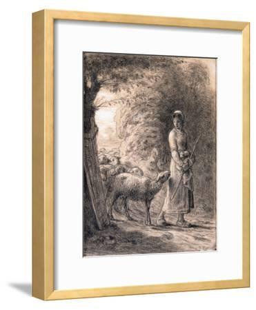 The Newborn Lamb, C.1860