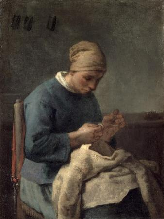 The Seamstress by Jean-François Millet