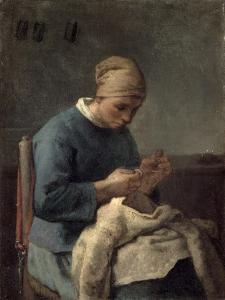 The Seamstress by Jean-François Millet