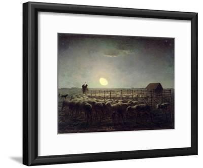 The Sheepfold, Moonlight, 1856-60