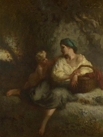 The Whisper, C. 1846 by Jean-François Millet