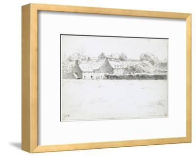 View of Farm Buildings across a Field, 1871