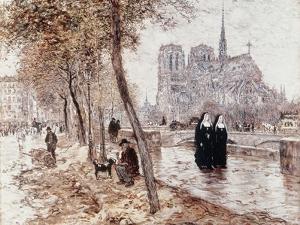 Notre Dame de Paris by Jean Francois Raffaelli