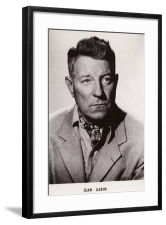 Jean Gabin, French Actor and Film Star--Framed Photographic Print