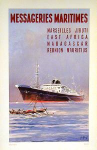 Mess Maritimes - Marseille Djibouti Small by Jean Gachons
