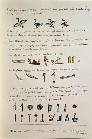 Egyptian Grammar, Chapter I, Plate, Folio 10