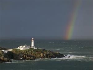 Rainbow over Fanad-Head, Ireland by Jean Guichard