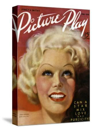 Jean Harlow (1911-1937) on the Cover of the April 1936 Issue of 'Picture Play' Magazine, 1936