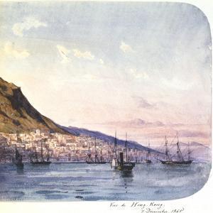 View of Hong Kong, 7 December 1865 by Jean Henri Zuber