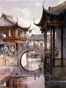 View of Shanghai, China, C1860 by Jean Henri Zuber