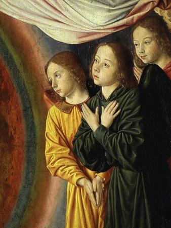 Angels, from Bourbon Altarpiece, Late 15th Century (Detail)