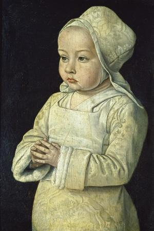 Portrait of Suzanne of Bourbon (Named the Praying Child), 1492-93