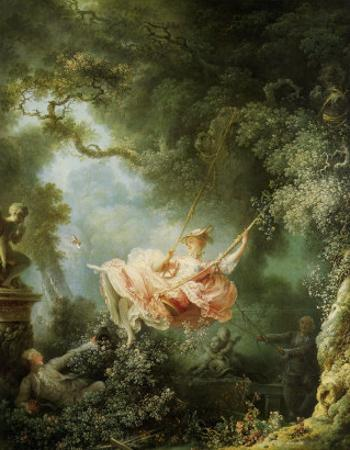 Les Hasards Heureux de l'Escarpolette, c. 1767 by Jean-Honor? Fragonard