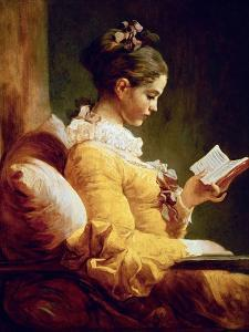 Reading Girl, 1776 by Jean-Honor? Fragonard