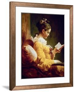 Reading Girl, 1776 by Jean-Honor? Fragonard