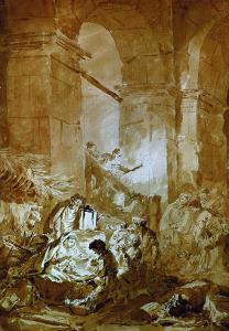 The Adoration of the Shepherds by Jean-Honor? Fragonard