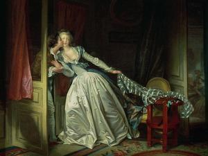 The Stolen Kiss by Jean-Honor? Fragonard