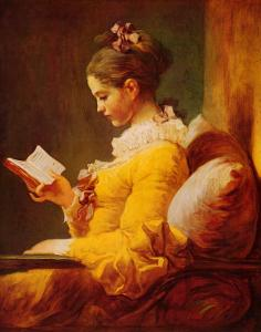 Young Girl Reading by Jean-Honor? Fragonard