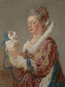 A Woman with a Dog, c.1769 by Jean-Honore Fragonard
