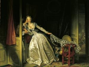 Furtive Kiss by Jean-Honoré Fragonard