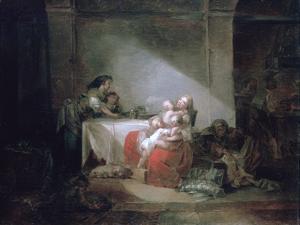 Interior Scene, Late 18th Century by Jean-Honore Fragonard