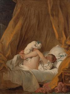 La Gimblette (Girl with Her Dog), about 1770 by Jean-Honoré Fragonard