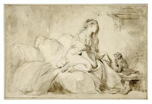 Oh! If Only He Were as Faithful to Me by Jean-Honore Fragonard
