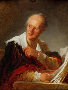 Portrait of Denis Diderot, Ca 1769 by Jean-Honoré Fragonard