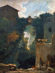 The Falls of Tivoli, 1760-1762 by Jean-Honoré Fragonard