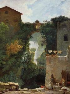 The Falls of Tivoli by Jean-Honoré Fragonard