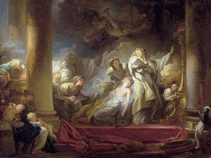 The High Priest Coresus Sacrificing Himself to Save Callirhoe by Jean-Honoré Fragonard