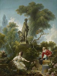 The Progress of Love: the Meeting, Ca 1773 by Jean-Honoré Fragonard