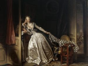 The Stolen Kiss, End 1780S by Jean-Honore Fragonard