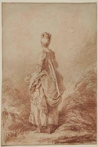 Young Woman Looking Back by Jean-Honoré Fragonard