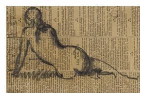 Femme assise de dos by Jean Jacques Henner
