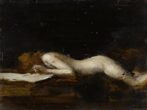 La femme qui lit : La Liseuse (recto) by Jean Jacques Henner