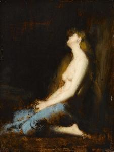 La Magdeleine,étude ou réplique du tableau du salon de 1878 by Jean Jacques Henner