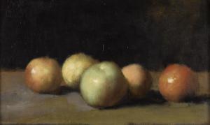 Nature morte à la pomme, la poire et aux pêches by Jean Jacques Henner