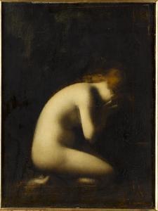 Nymphe qui pleure, réplique du tableau du Salon de 1884 by Jean Jacques Henner