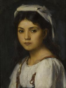 Tête de jeune italienne by Jean Jacques Henner