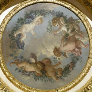 Plafond de la salle du Conseil à Fontainebleau by Jean-Jacques Lagrenée