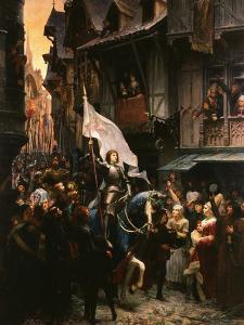Entrance of Saint Joan of Arc, 1412-31, into Orleans, France by Jean-jacques Scherrer