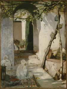 Cour marocaine by Jean Joseph Benjamin Constant
