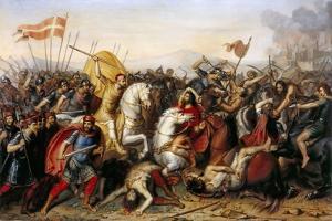 The Battle of Saucourt-En-Vimeu on 3 August 881 by Jean-Joseph Dassy