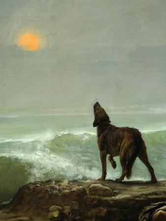 Dog Howling at the Moon, from Les Garde-Côtes Gaulois (Gaulish Coastguards) (Rf 907) (Detail)