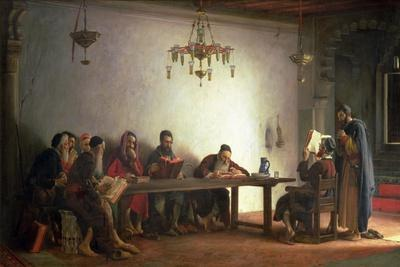 The Reading of the Bible by the Rabbis, a Souvenir of Morocco, 1882