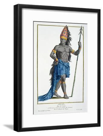 Jean, King of the Congo, Engraved by Pierre Duflos--Framed Giclee Print