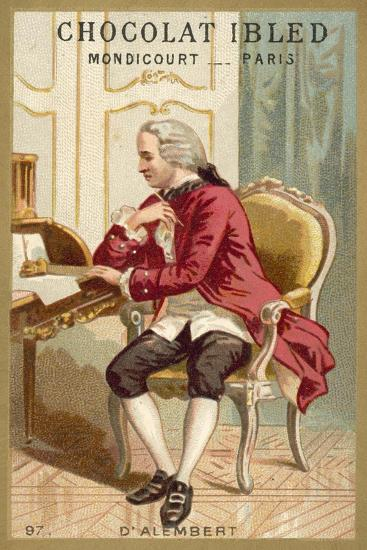 Jean Le Rond D'Alembert, French Mathematician, Physicist and Philosopher--Giclee Print