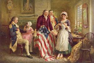 Betsy Ross, 1777 by Jean Leon Gerome Ferris